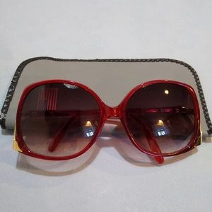 Vintage Hot Red Sunglasses